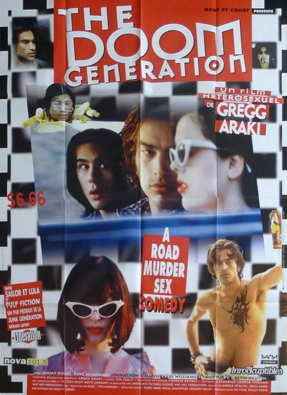 THE DOOM GENERATION - GREGG ARAKI / CULT - ORIGINAL LARGE FRENCH MOVIE POSTER