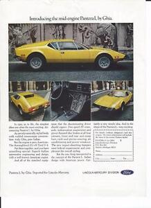 1971 Ford Pantera L by Ghia Ad/ Beautiful