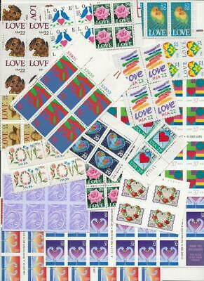 IN TIME FOR VALENTINE'S DAY!  Vintage Love Stamps  Great Mixture
