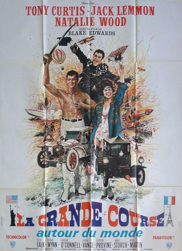 THE GREAT RACE - STYLE B CARS / SPOR T- CURTIS / LEMMON - ORIGINAL LARGE POSTER