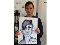 Caricaturist live caricature entertainment for wedding, birthday and right now Xmas work parties