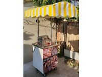 Mobile catering cart, comes with waffle maker. Quick cash business