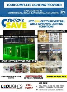 Upgrade to LED Lights for your Convenience, Variety Store & Gas Stations or any Business - Save up to 70% on Your Hydro