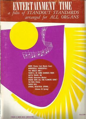 Entertainment Time All Organ Sheet Music 10 Songs Most 50's-60's Folk P. Seger