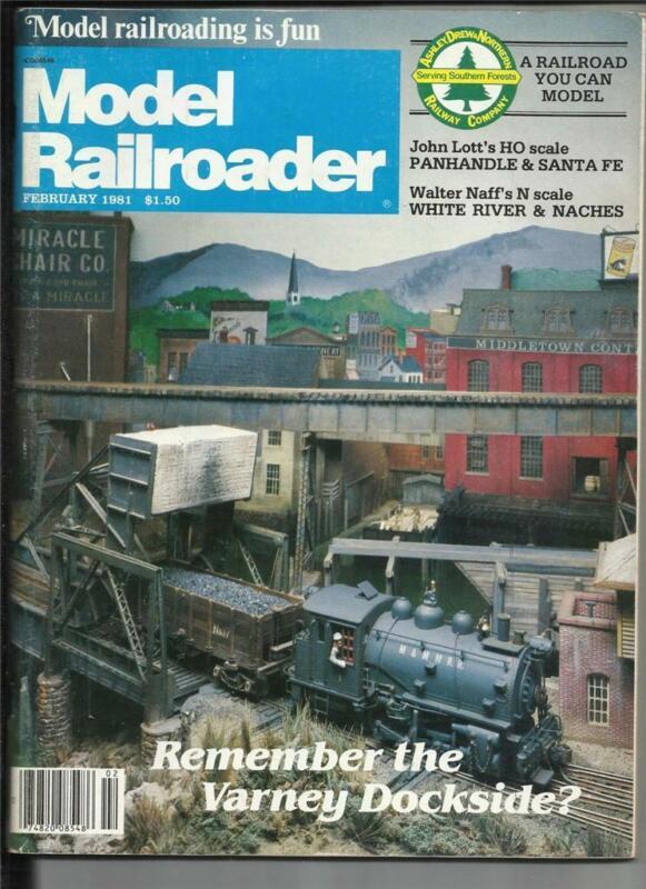 Model Railroader Feb 1981 White River & Natches Layout Cedar Rapids Station Plan