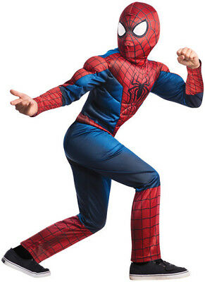 Boys Child Marvel Collection Amazing SPIDERMAN 2 Deluxe Spiderman Costume](Awesome Costumes For Boys)