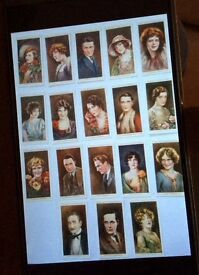 Old Vintage Will's Cigarette Cards, 1928. Cinema Stars, Series 2. Partial set of 18.