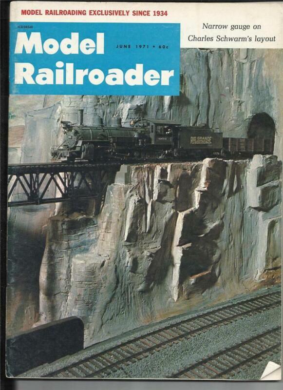 Model Railroader June 1971 1890 Dining Parlor Sleeper Car Drawings B&O Bridge