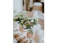 Wedding Hessian and Lace Jars