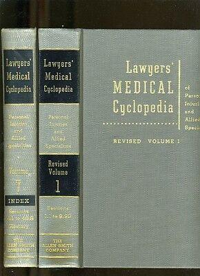 Law Libary 6 Of 7 Vols Lawyers Medical Cyclopedia Of Personal Injuries 1966 Vg