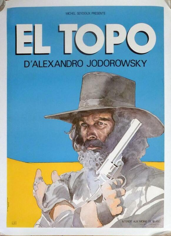 EL TOPO - JODOROWSKY / MOEBIUS - ORIGINAL MEDIUM FRENCH MOVIE POSTER