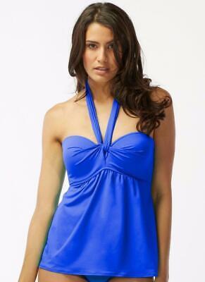 Ocean Blue Cup (NWT Coco Reef Ocean Blue Five Way Bra Convertible Tankini Swim Top 32 34 C cup)