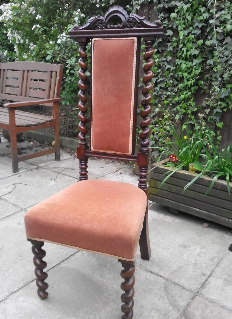 Vintage Antique Rosewood Hall chair.
