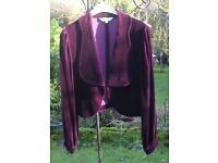 Ladies short velvet jacket by East size 14
