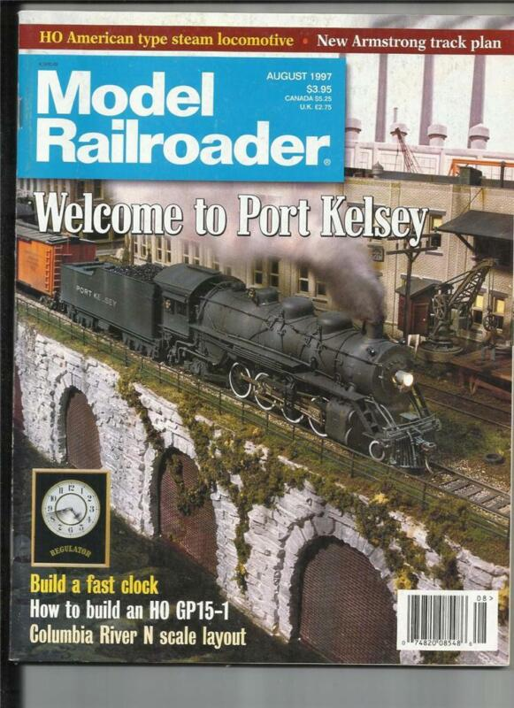 Model Railroader August 1997 Build Fast Clock HO GP15-1 Armstrong Track Plan