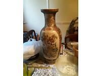 Colourful large vase