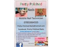 Pretty Polished Nails (Mobile centred on Truro) and salon based in Hairbiz (Falmouth - Wed & Fri)