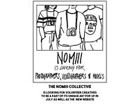 NOMIII Is Looking for Volunteer Photographers/Videographers and Models for Art Pop Up