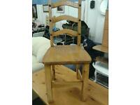 Solid oak table and x4 chairs