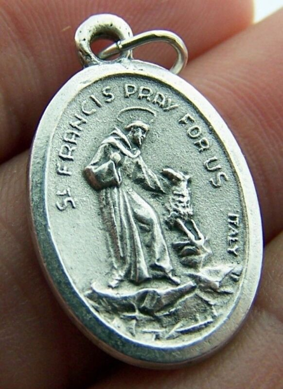 "Needzo PLC Mens Womens 1"" Oval St Saint Francis Animal Lovers Pray for Us Medal"