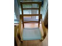 Ikea Poang chair and footstool frame