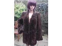 Vintage brown fur coat size 14/16