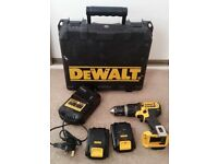 Power Drill DEWALT 18V very little used with 2x battery - £80 (in stores £149)