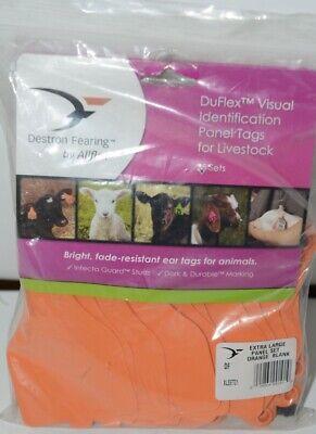 Destron Fearing Duflex Visual Id Livestock Panel Tags Xl Orange Blank 25 Sets