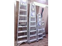 Aluminium step ladders.