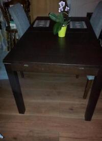 Ikea extending table seats 4-8 Bjursta black brown