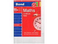 B ond Maths 10 Minute Tests 8-9 years unused