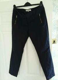 Next navy capri trousers size 12R