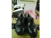 Adidas black leather golf shoes