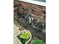 2 Peugeot bicycles bikes