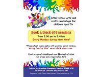 After school Arts and Crafts classes for children in Armadale (West Lothian)