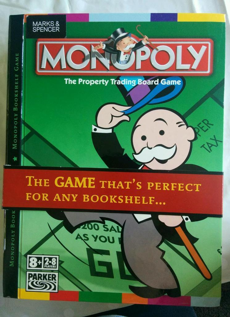 RARE Brand New Sealed Monopoly Bookshelf Edition