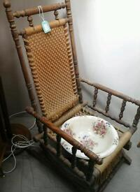 Rocking chair / commode. ABC Row 5