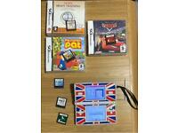 Intendo DS console with games