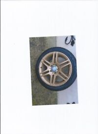 Mercedes Wheels and Tyres in Gold 4 in all