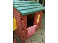 Little tikes log cabin outdoor garden play house
