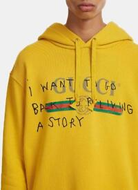 Gucci GG yellow hoodie jumper Size Small S