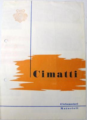 CIMATTI 1960s Italian Original Motorcycle Scooter Sales Brochure