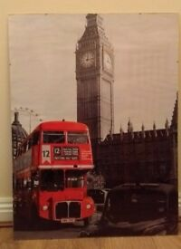 LARGE FRAMED LONDON SCENE PRINT