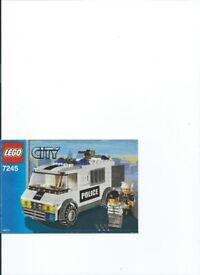 LEGO KIT 7245 Police Prisoner Transport See Description Low Price