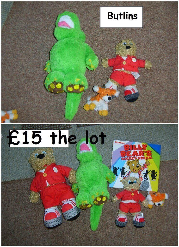 butlins , soft toys and keyring large bundle £12 smaller bundle £6 or £15 for all can spilt