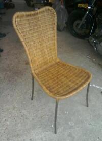 Wicker chair retro
