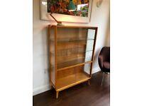 Vintage Mid Century Oak Display Cabinet