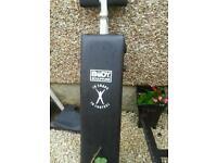 Weight bench x2 workout bar