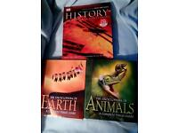 Encyclopedia of: Animals, Earth and History all 3 for £1