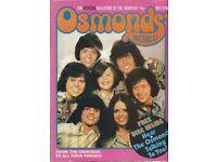 Osmonds World Magazine Issue 1 from Nov 1973
